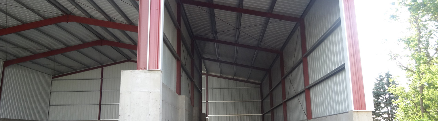 60 x 90 x 27  with 25 x 90 x 27 - 21'9.5'' and 20 x 90 x 27 - 22'10'' Lean-To's - 1683 (6)