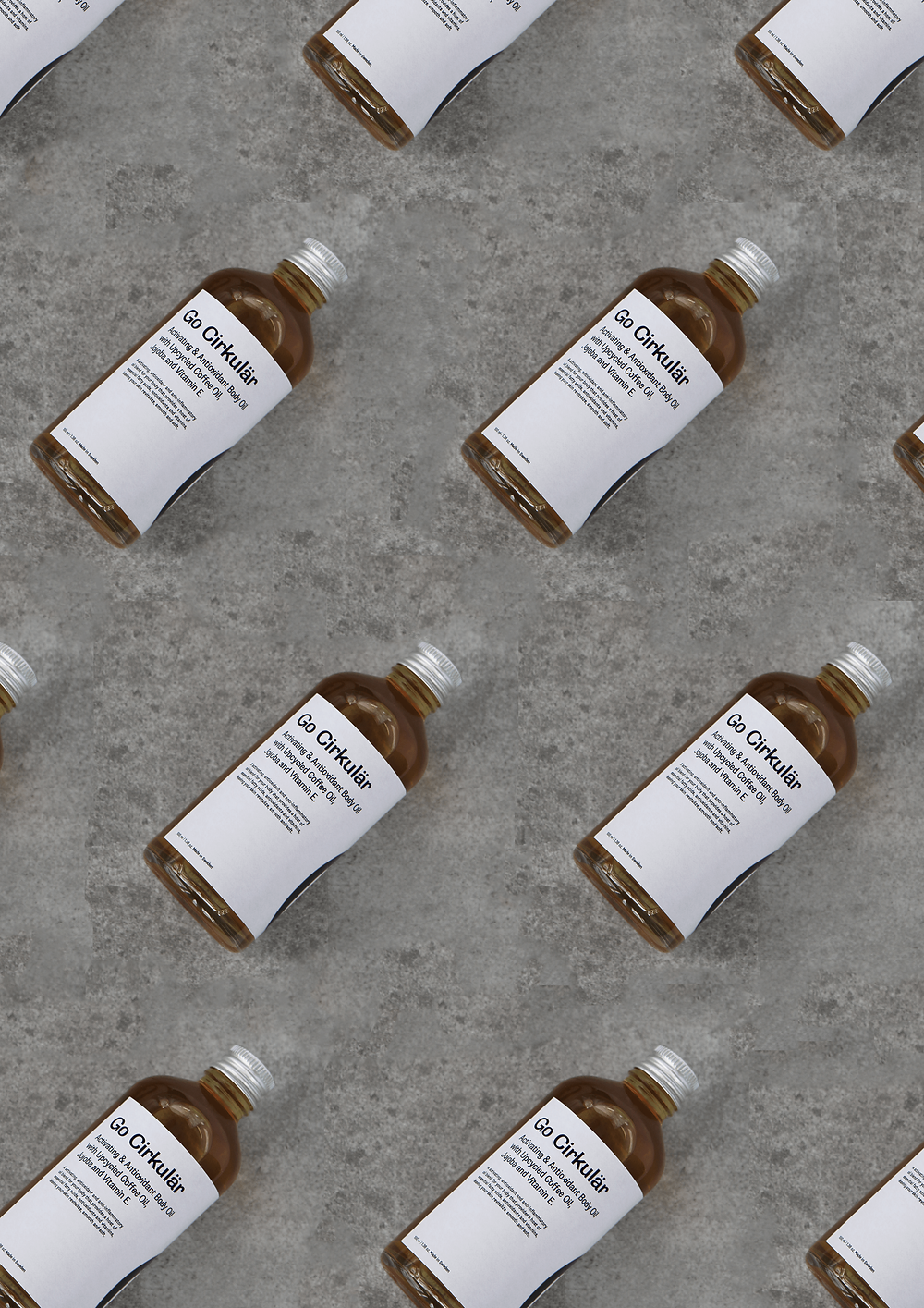 Go Cirkulär's Activating Body Oil with Kaffoil - Kaffe Bueno's Upcycled Active Coffee Oil