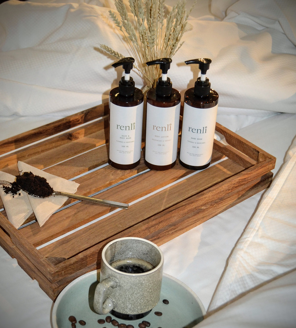 RENLI - a brand by Kaffe Bueno, upcycled from spent coffee grounds.