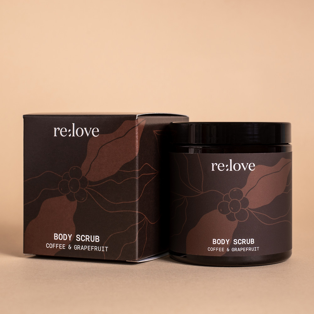 Body Scrub with Coffee & Grapefruit. Contains Kaffibre, Upcycled Coffee Fibres by Kaffe Bueno