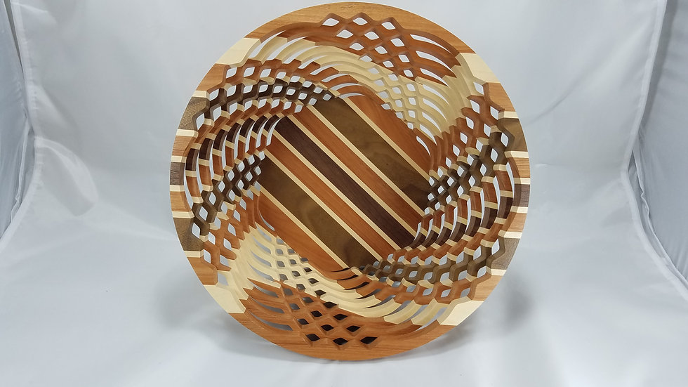 "12"" Mixed Premium Hardwoods Bowl"