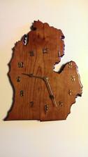 MI Mahogany Clock