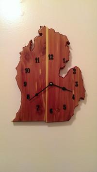 MI Red Cedar Clock
