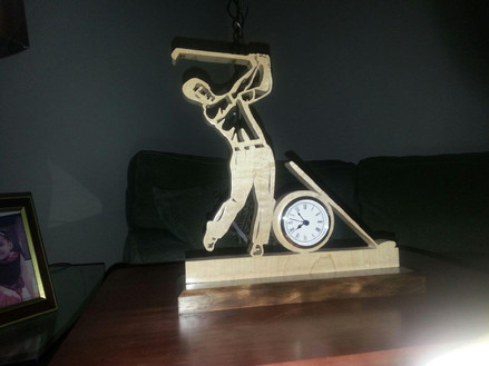 Golfer Desk Clock
