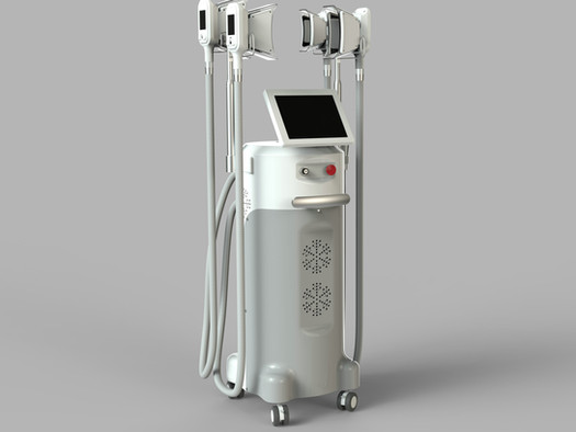 Newest cryolipolysis system with 4 handles