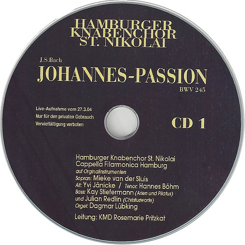 CD I Johannes Passion