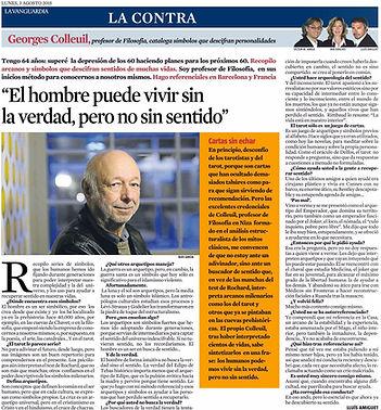 Georges Colleuil LA CONTRA de La Vanguardia