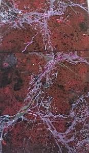 Faux marbre rouge