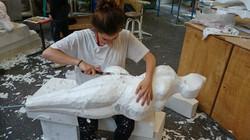 Sculpture sur polystyrène
