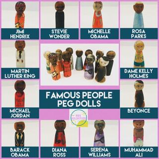 Famous Black People Peg Dolls