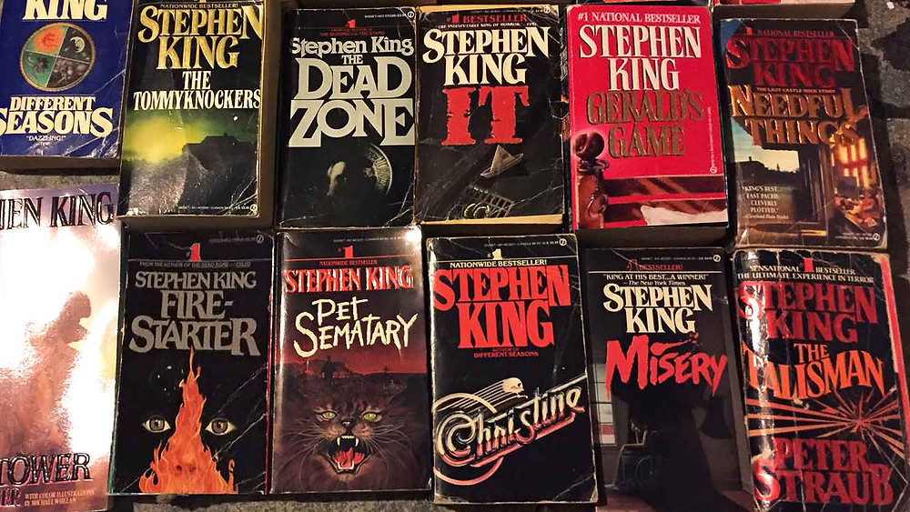 My Stephen King book collection from my youth