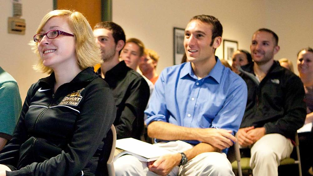 Photo of students at Bryant University