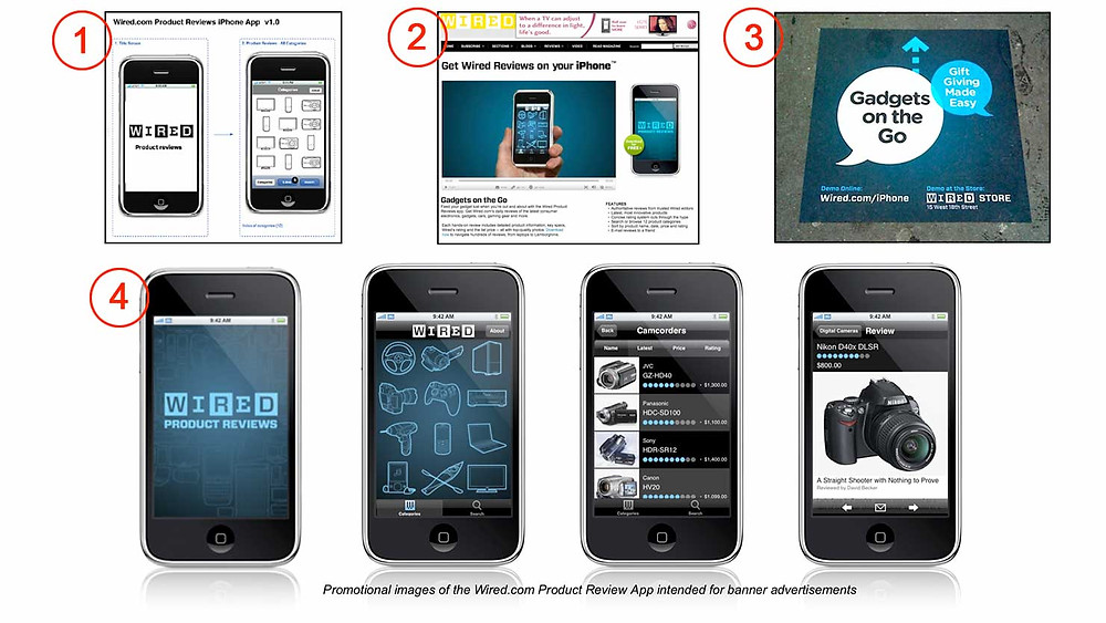Elements from WIRED's first iPhone app
