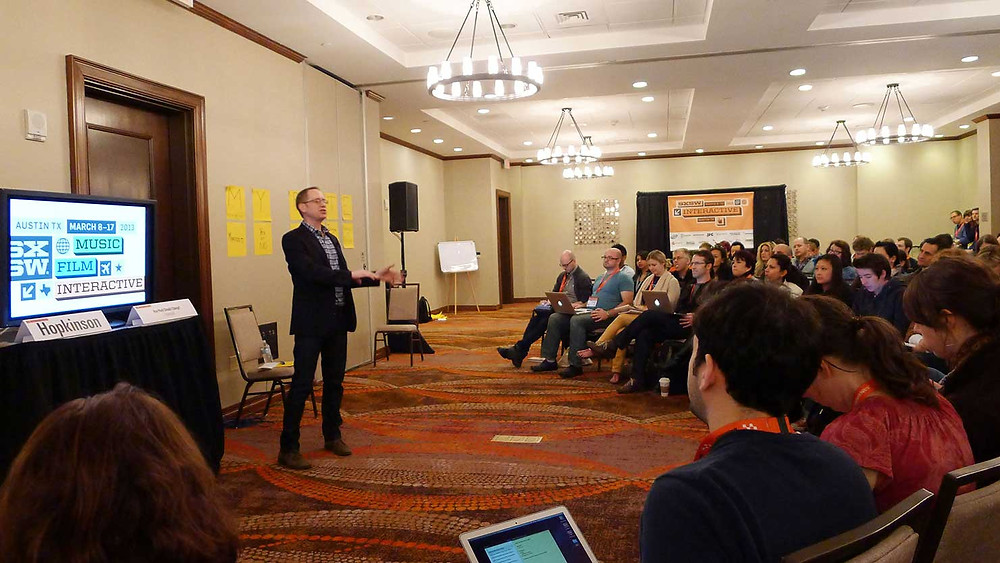 "Jim leading a ""Core Conversation"" group at SXSW Interactive"