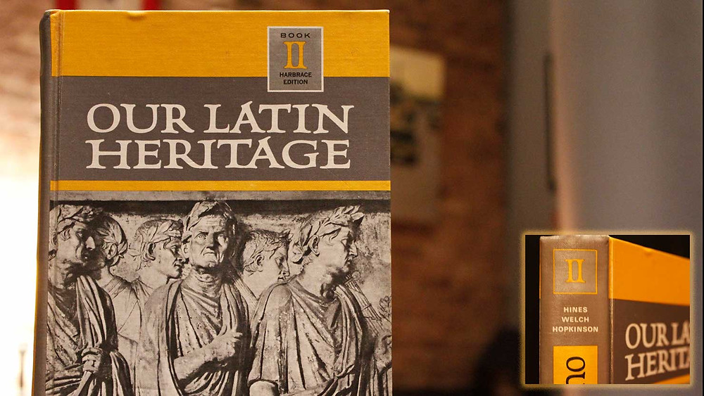 My grandfather Joseph Hopkinson co-authored a Latin textbook called Our Latin Heritage