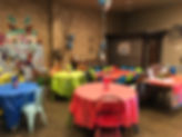 birthday party tables