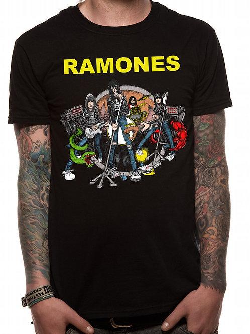 T-shirt RAMONES LIVE