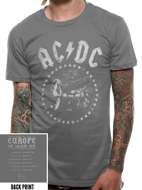 T-shirt Ac/dc For those about to rock Live