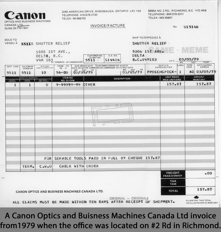 canon invoice 1979 wix