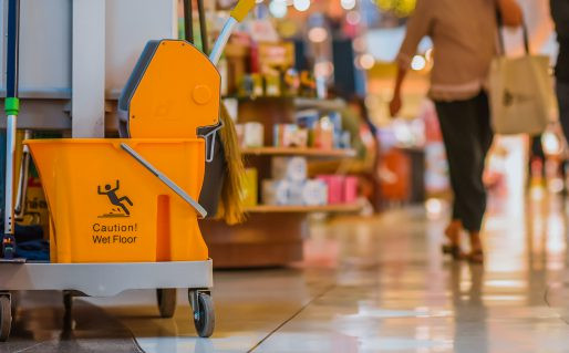 Is a professional cleaner required for retail store cleaning?
