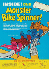 Spinner de bicicleta en las cajas de Monster Cereal