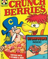 Juguete de muñeca en las cajas de Crunch Berries
