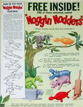 Noggin Nodders en las cajas de Sugar Pops