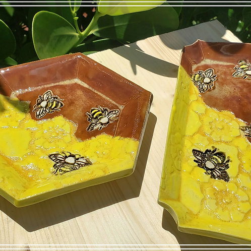 """""""Bees"""" tray set. 2 pieces"""