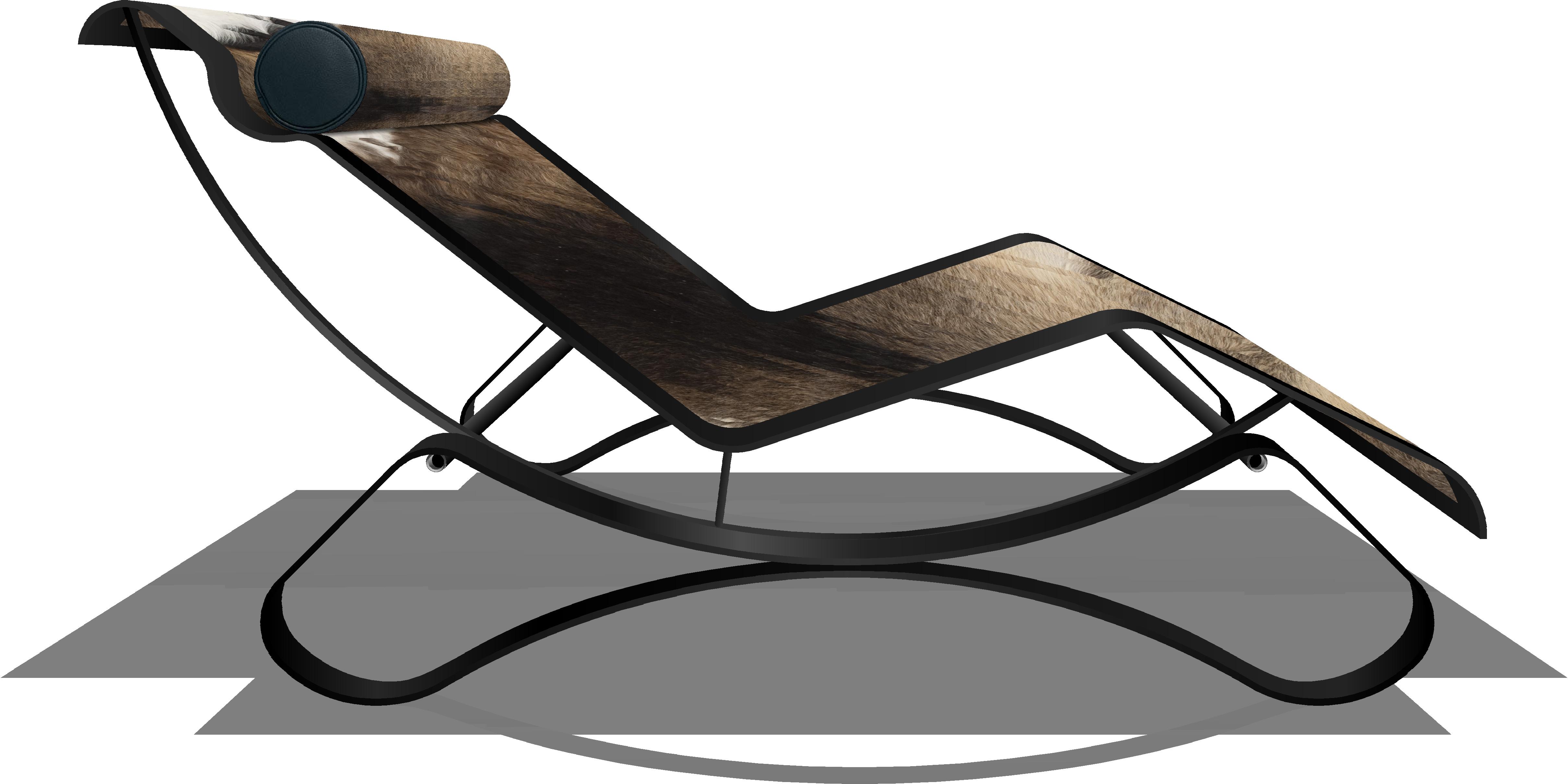 Chaise raquel preta