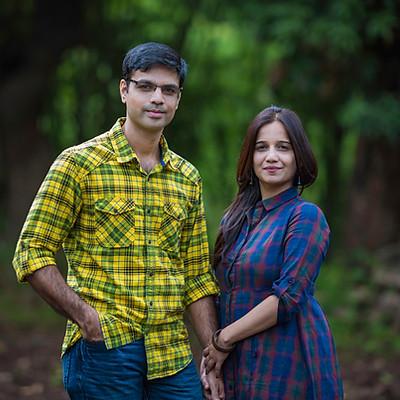 Couple shoot Ajinkya & Nisha
