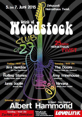When the Music´s over & Blue Sunday @ Club of 27 - Woodstock Festival in Twist