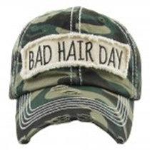 Bad Hair Day Distressed Baseball Cap