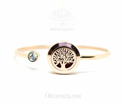 Bendable Rose Gold Soft Twist Tree of Life Bangle