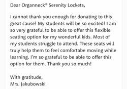 A friendly letter via local teacher