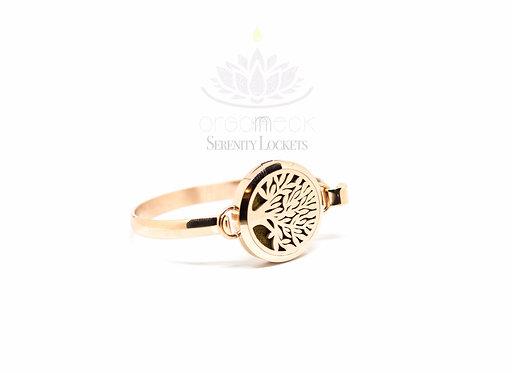 'Tree of Life' Rose Gold Bangle