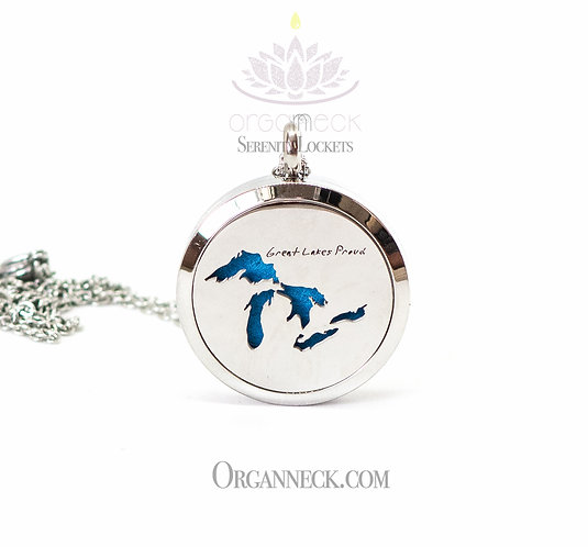 Michigan Great Lakes (Necklace)