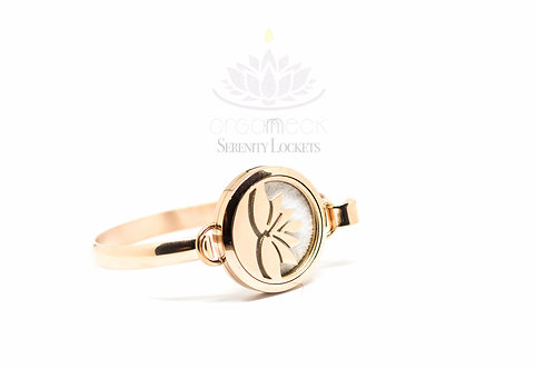 'Lotus Falls' Rose Gold Bangle
