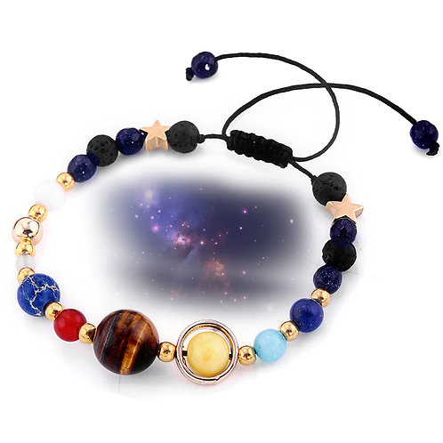 Planets of The Galaxy Lava Bead Bracelet