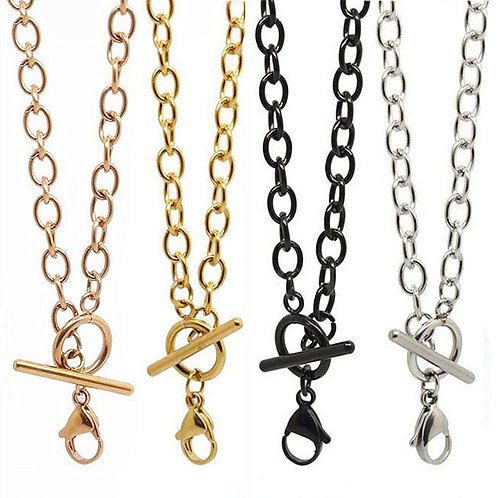 """316L Stainless Steel Toggle Chain 18"""""""