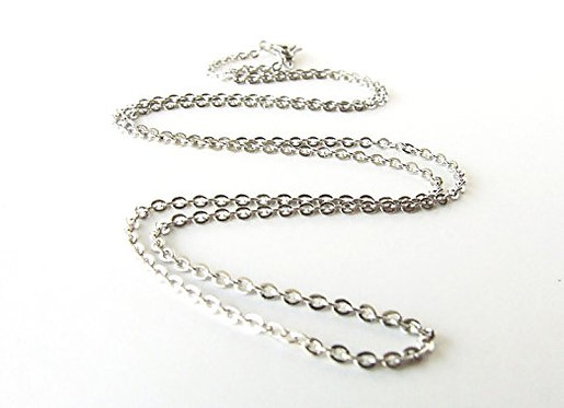 Silver Plated Cable Chain Chain 22""