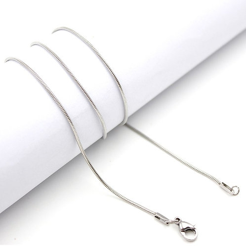 """316L Stainless Steel Snake Chain 24"""""""