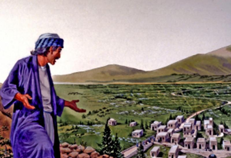 Jotham giving parable