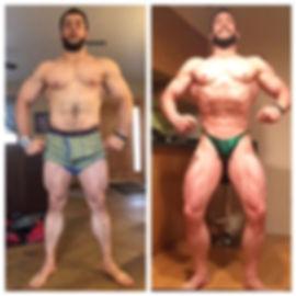 Mens bodybuilding transformation