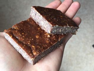 Collation avoine-banane-cacao