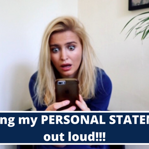 Reading my Personal Statement OUT LOUD!