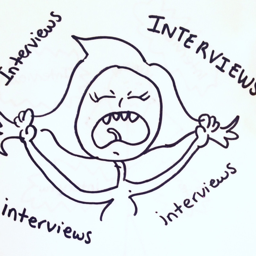 interview cartoon 2