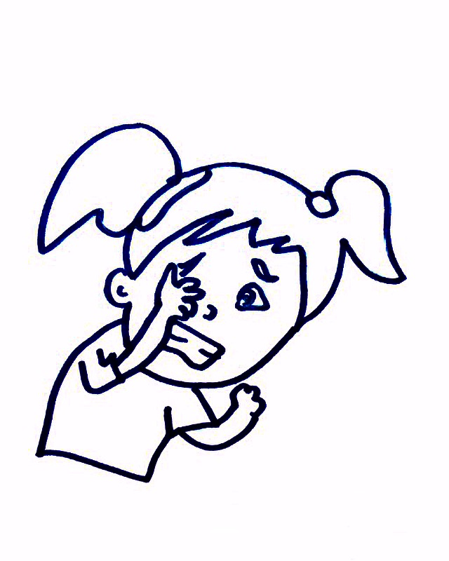 cartoon girl crying