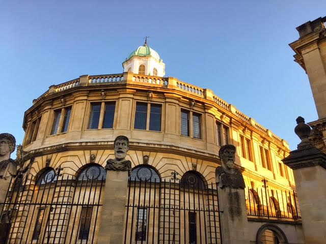 Sheldonian blue skies
