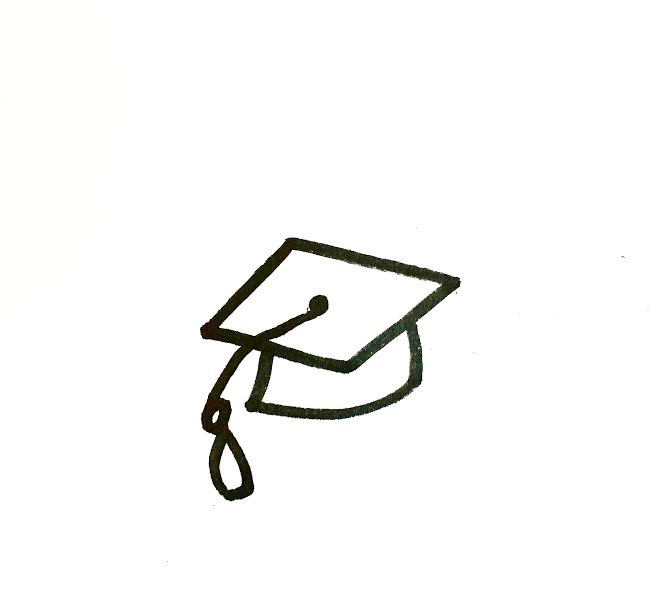 mortar board drawing