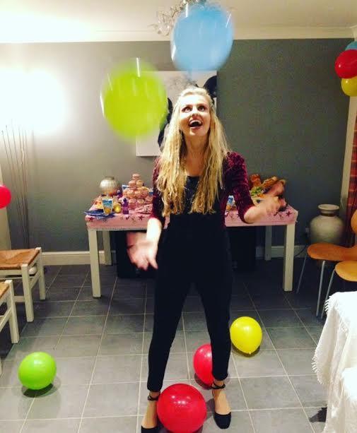 Kate celebrating